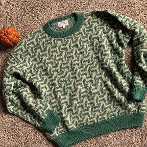 KUMPI Alpaca Wool Sweater Handmade Bolivia Sz M
